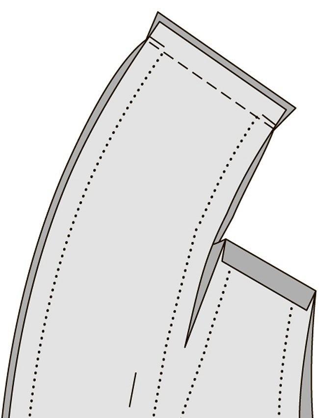 Как выполнить цельнокроеный шалевый воротник
