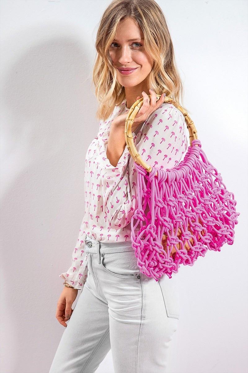 Плетёная сумка-сетка своими руками
