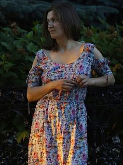 Работа с названием Платье из штапеля
