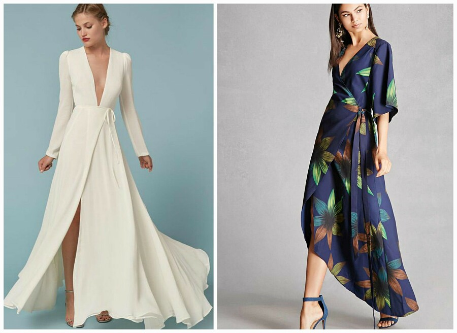 Платье сзапахом: кому идет икак носить