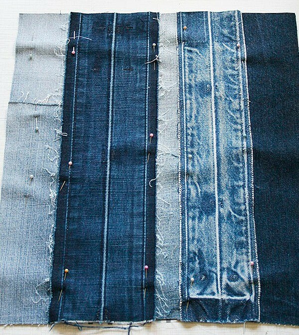 Стильная сумка изстарых джинсов