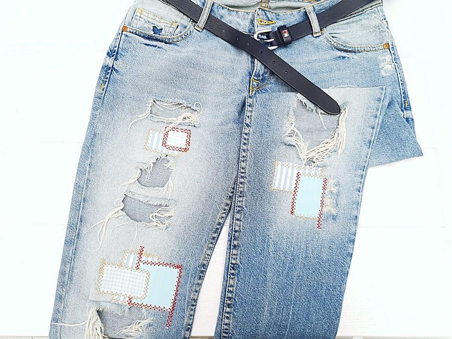 Как сделать заплатки наджинсах