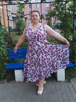 Работа с названием Ретро-платье