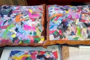 Утилизация лоскутков и обрезков ткани: техника пэчворка «пицца»