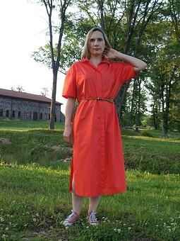 Работа с названием Платье-рубашка оверсайз