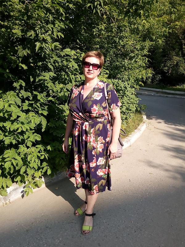 Платье сзапахом длямамы