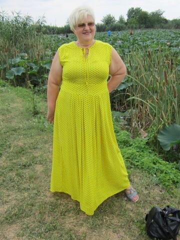 Платье  желтое вгорох