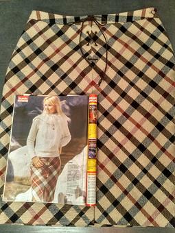Работа с названием Зимняя юбка (мод.№ 108 Бурда 9/2005)