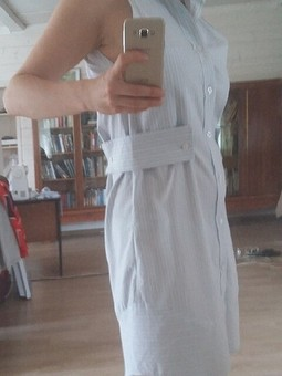 Работа с названием Платье из рубашки мужа