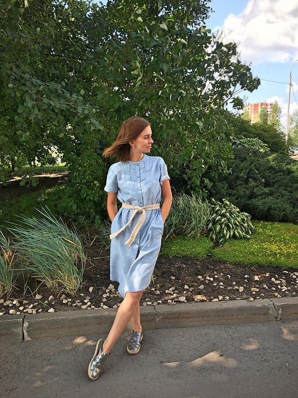 Платье-рубашка спластроном