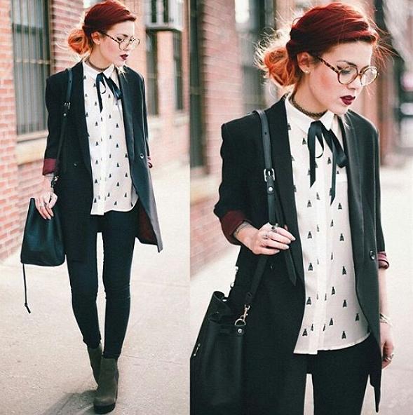 Женские галстуки: самые модные модели