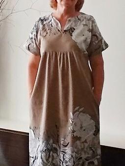 Работа с названием Летнее свободное платье