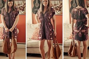 Платье-туника из палантина без выкройки за 20 минут: мастер-класс + видео