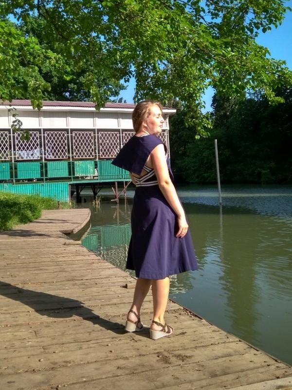 Морское платье от OlyaSesolya