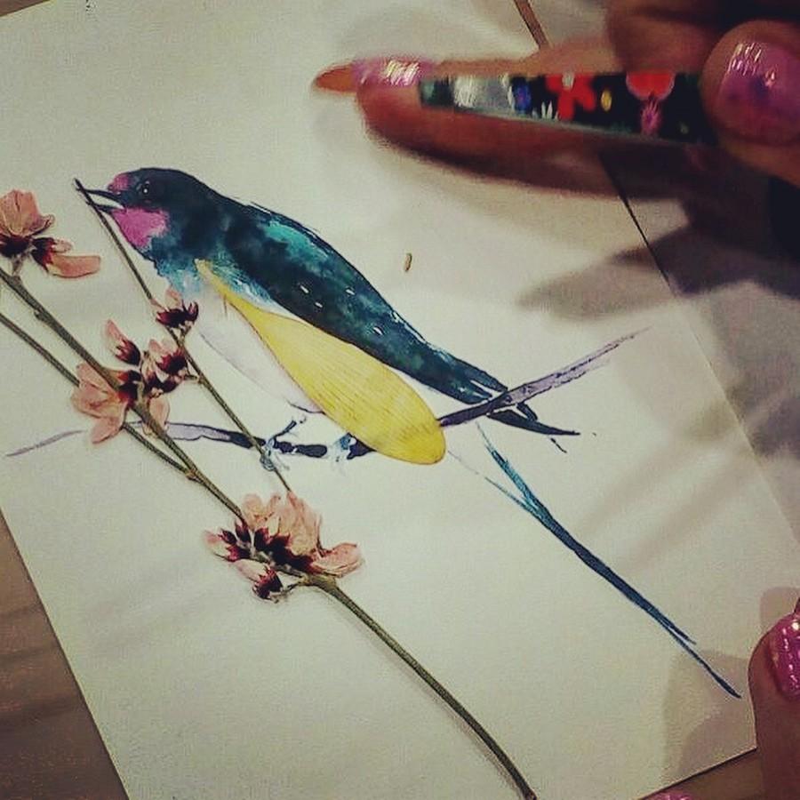 Японская техника ошибана: картины израстений ицветов