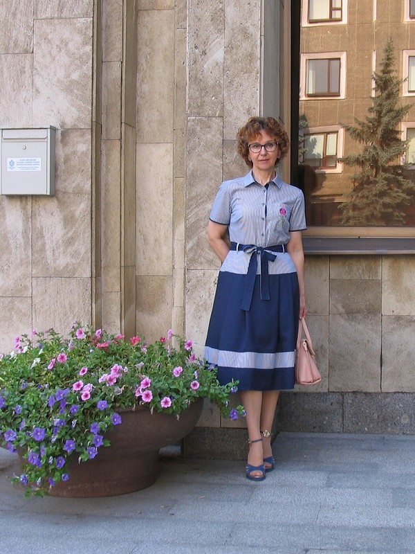 Платье комбинированное