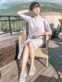 Работа с названием Комплект платье+юбка