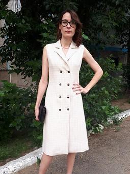 Работа с названием Платье-пиджак 11/2017 215