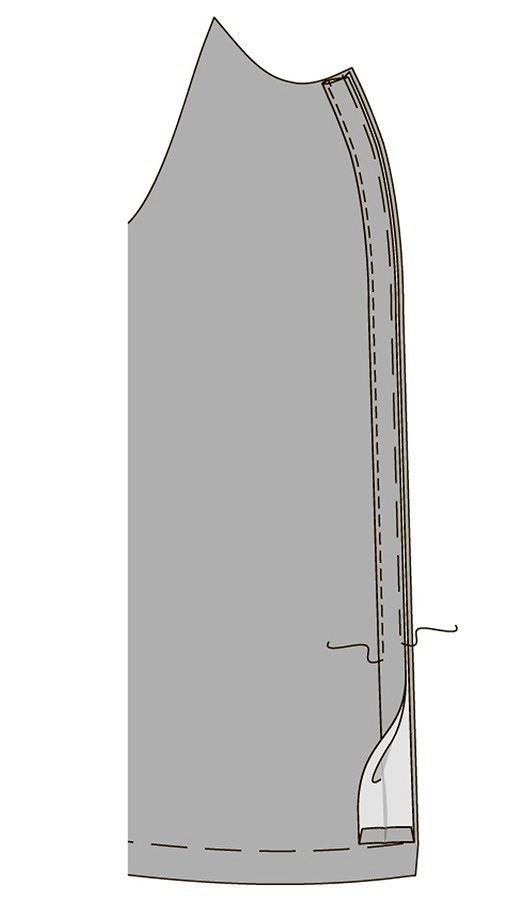 Обработка рукава скулиской визделии изтрикотажа