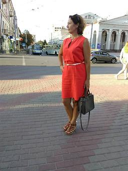 Работа с названием Платье льяное из метра ткани