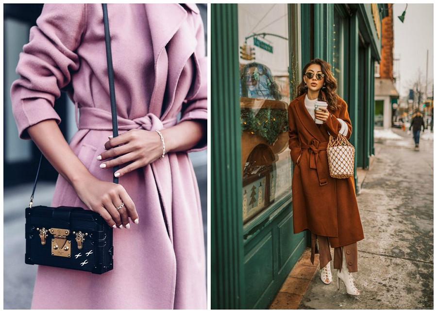 Пальто-халат: кому идет ис чем носить