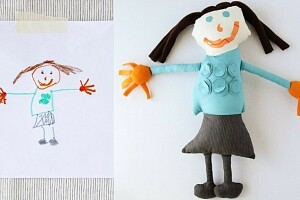 Как сшить игрушки по детским рисункам: 3 мастер-класса