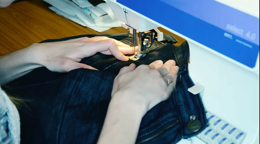 Как расширить джинсы вталии: мастер-класс свидео