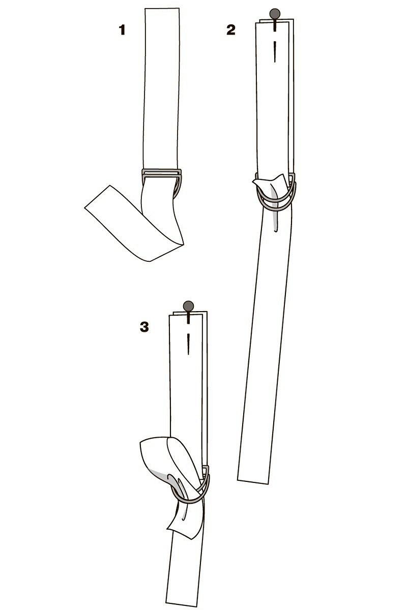 Как сделать декоративные ленты сполукольцами