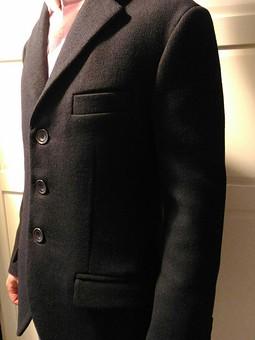 Работа с названием Мужской пиджак, первый опытный образец.
