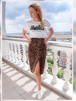 Работа с названием Леопардовая юбка в спортивном стиле