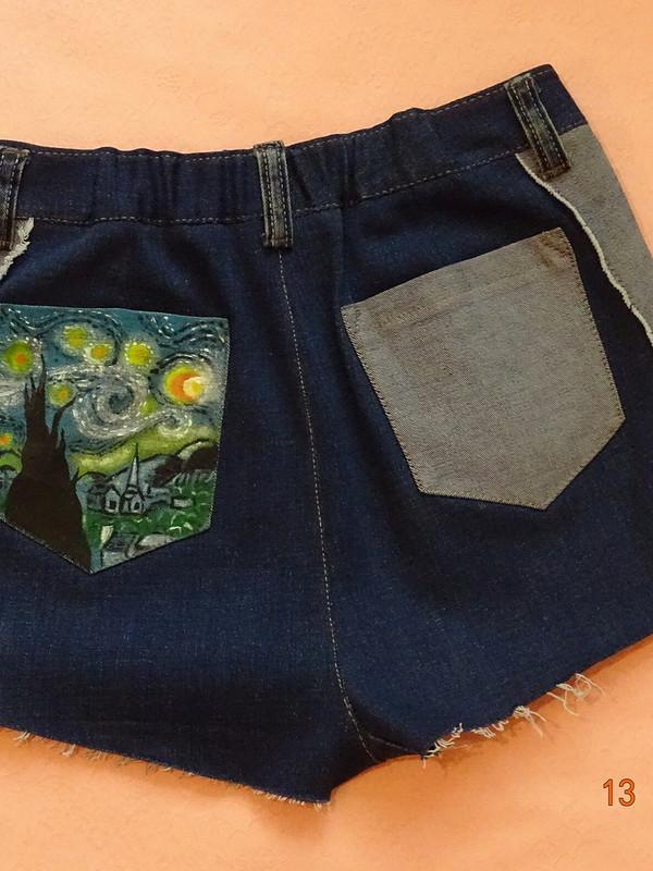 Старые джинсы + акриловые краски = креатив)