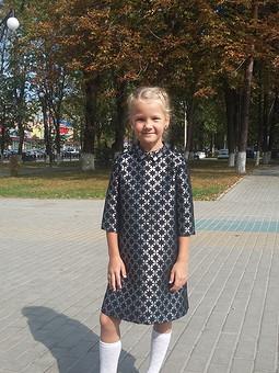 Работа с названием Юбка превращается ..в элегантное платье