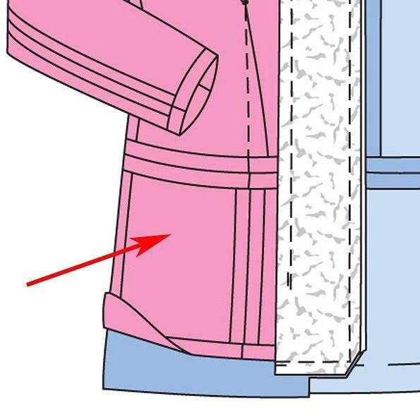 Как пришить баску кизделию