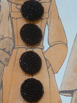 Работа с названием Пуговицы с вышивкой для пальто, жакета