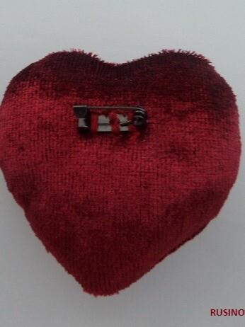 Брошь «Сердце» от rusinova