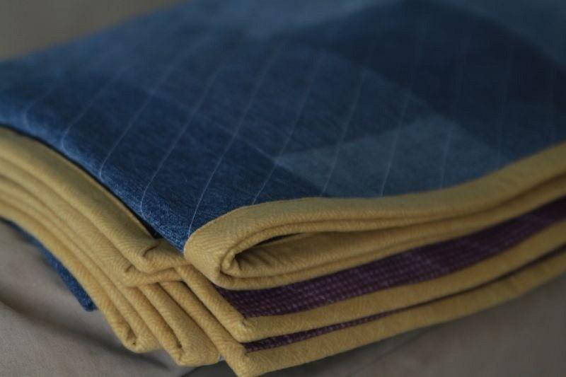 Стёганое одеяло-плед изстарых джинсов: мастер-класс