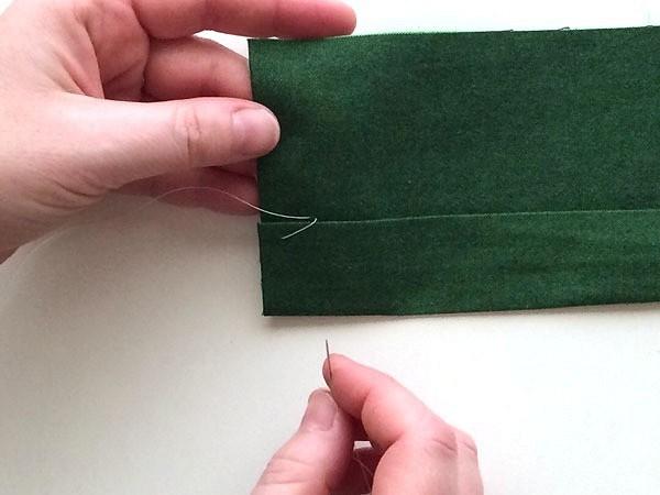 Как подшить низ изделия вручную швом «козлик»