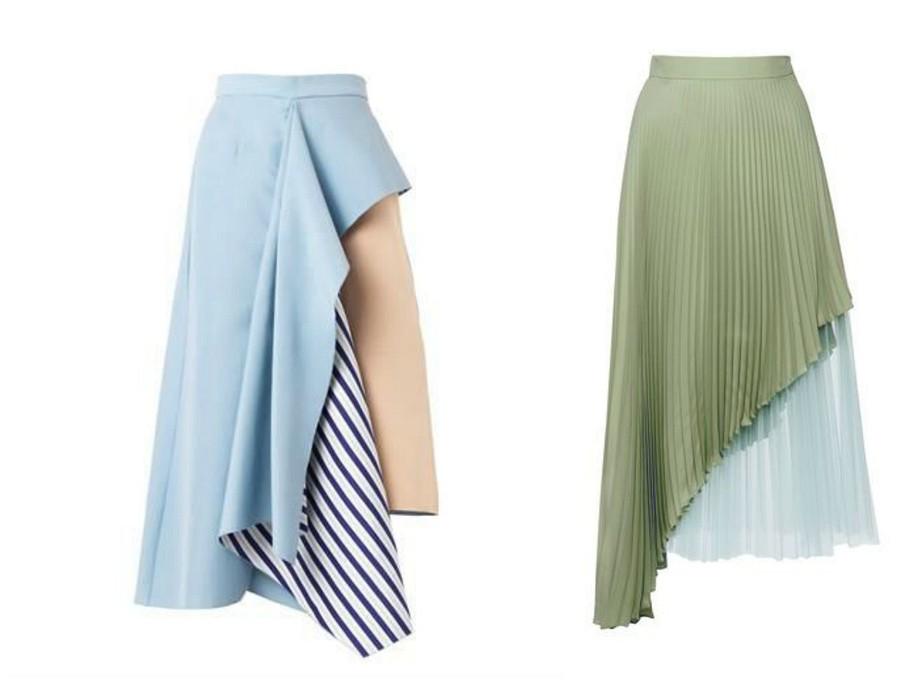 Как ис чем носить асимметричную юбку