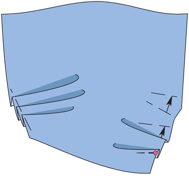 Как сделать складки наткани
