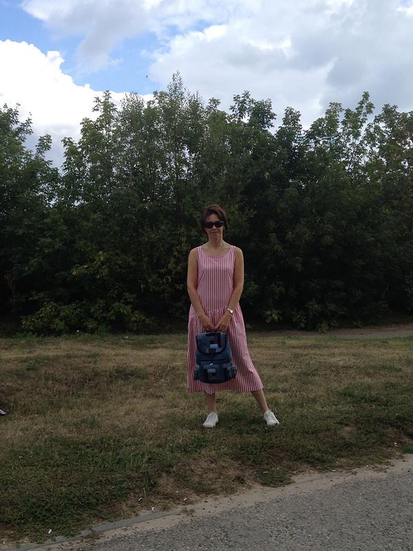 платье-сарафан илоскутно-джинсовый рюкзачок от foka