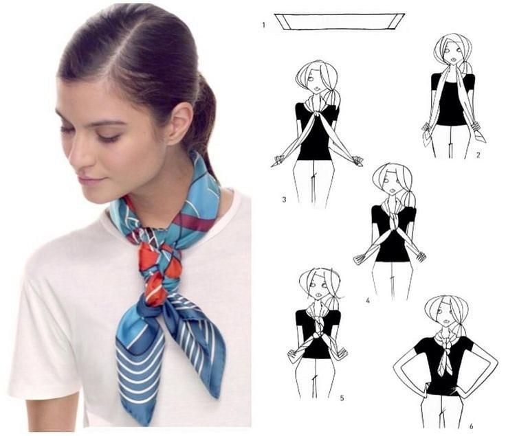 Как носить шелковый платок этой осенью