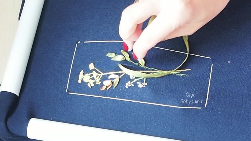 Как декорировать платье вышивкой лентами
