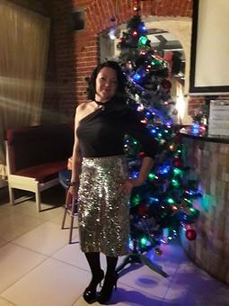 Работа с названием Новогодняя юбочка