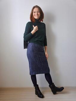 Работа с названием Теплая юбка