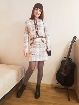 Работа с названием Chanel inspiration или подарок мужа на годовщину свадьбы (юбка)