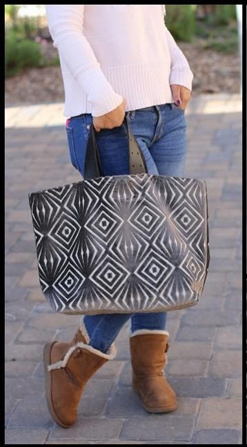 Большая сумка-шопер наподкладке: мастер-класс