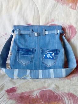 Работа с названием сумка джинсовая