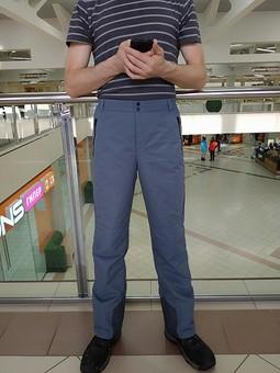 Работа с названием Утеплённые брюки для мужа