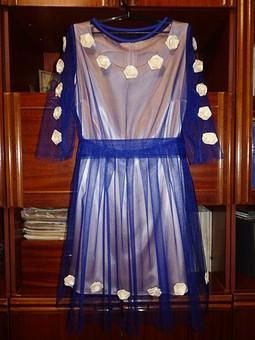 Работа с названием Двухслойное платье