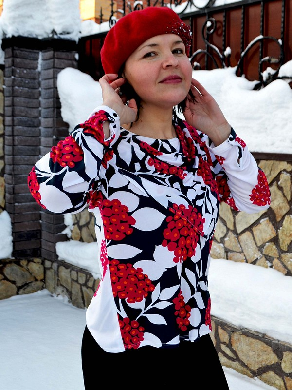 Рябина наснегу